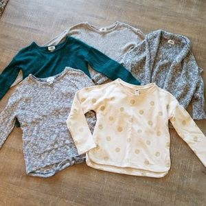 4 sweaters, 1 sweatshirt Old Navy girls